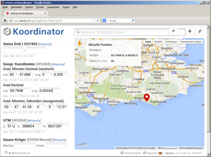 Postal Codes Database - koordinator overview