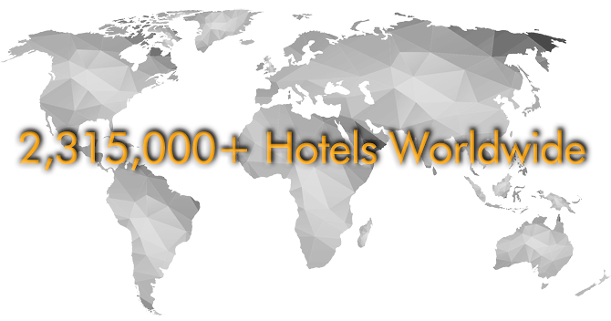 2.315.000+ hotel database worldwide