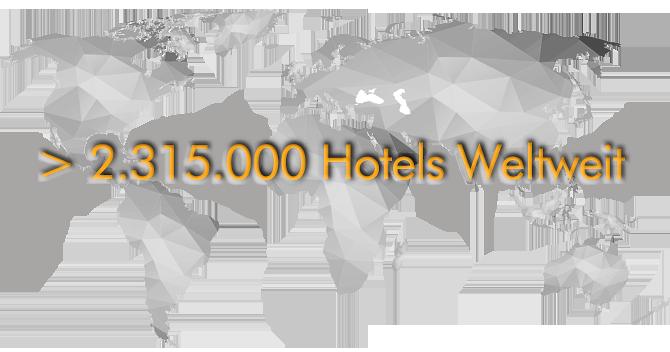 > 2.315.000 hoteladressen weltweit